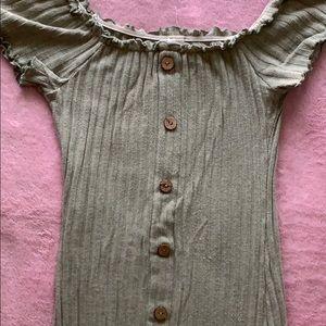 Dresses - Olive bodycon mini dress